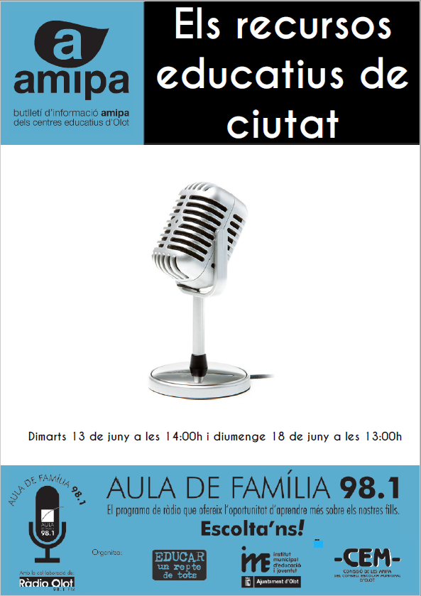 PROGRAMA DE RÀIDO 98.1 RECURSOS EDUCATIUS